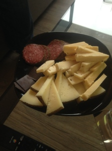 Just a small sampling of the cheese he bought.
